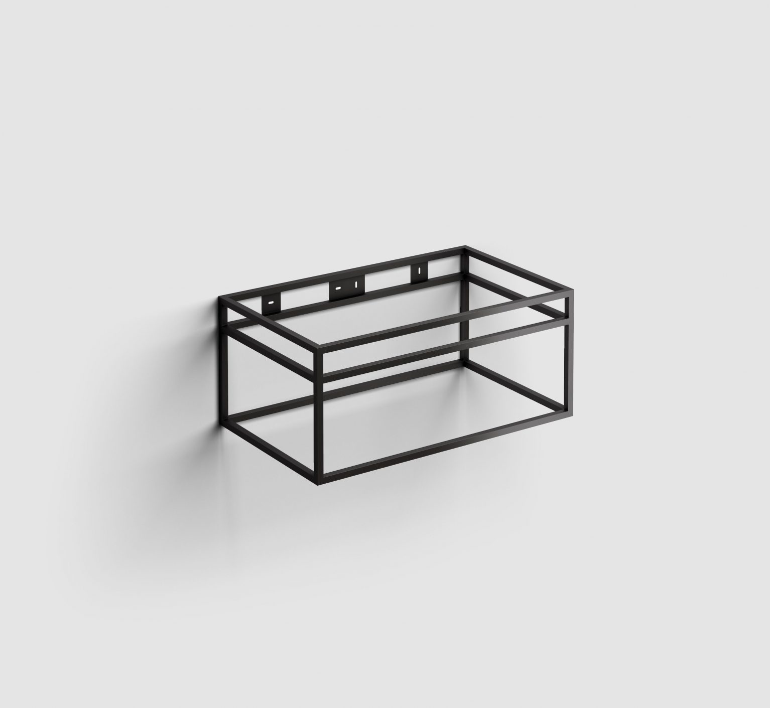(New) Wash Me Frame rvs kokerprof. 70 cm mat zwart poederlak)