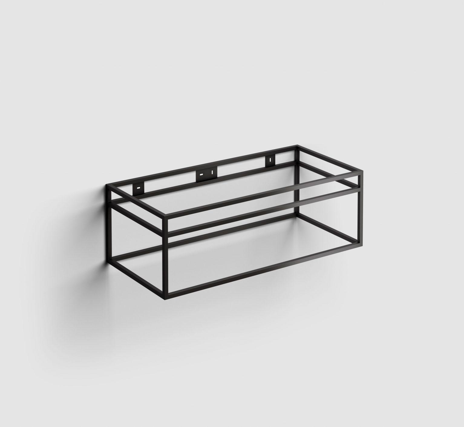 (New) Wash Me Frame rvs kokerprof. 90 cm mat zwart poederlak)