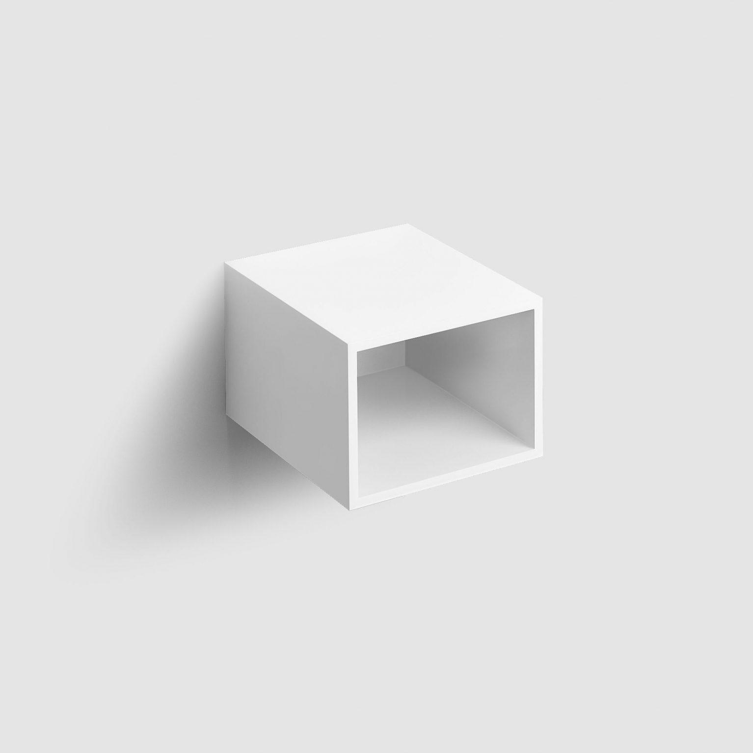 Hammock open kast 40cm, mat wit gelakt)