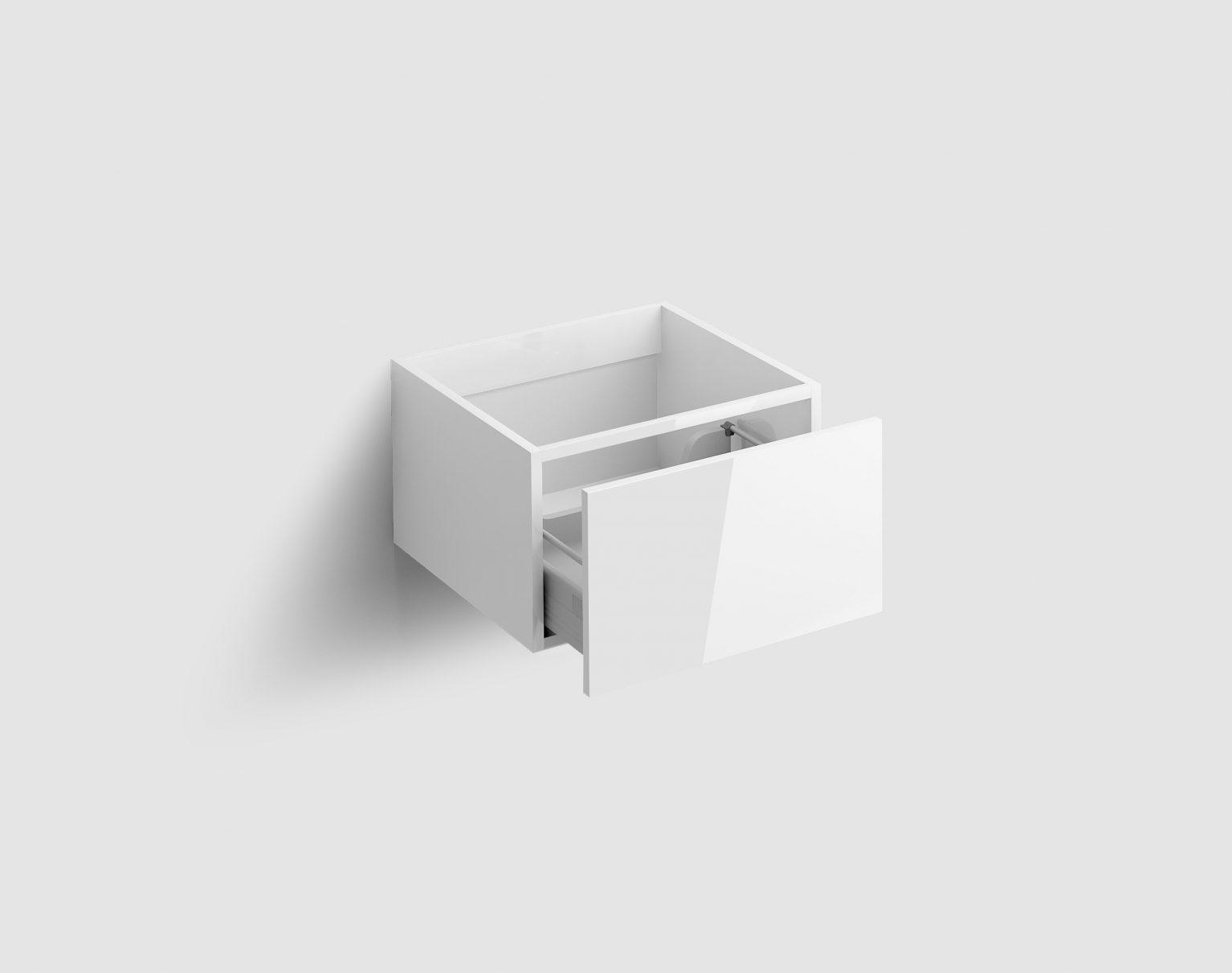 Hammock ladekast 40cm met push-to-open lade, wit hoogglans)