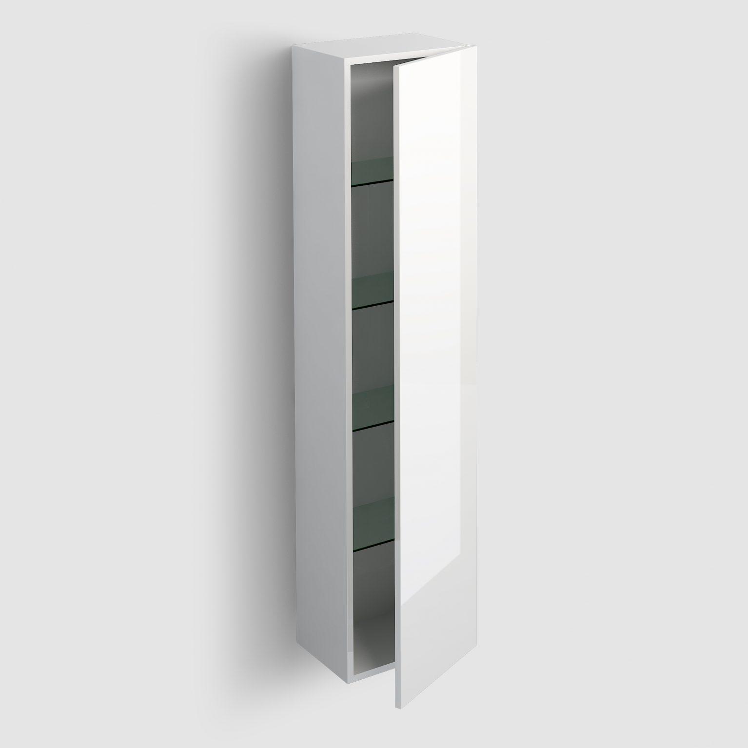 Hammock kolomkast 170cm, omkeerbaar, wit hoogglans gelakt)