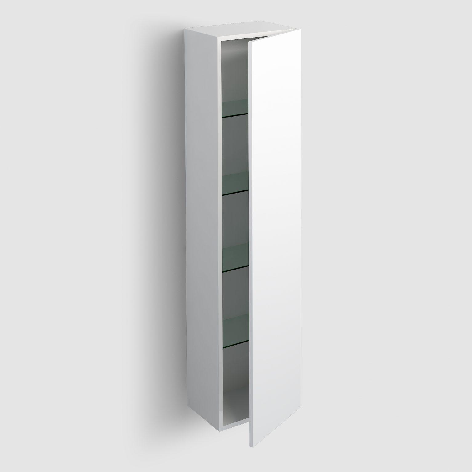 Hammock kolomkast 170cm, omkeerbaar, mat wit gelakt)