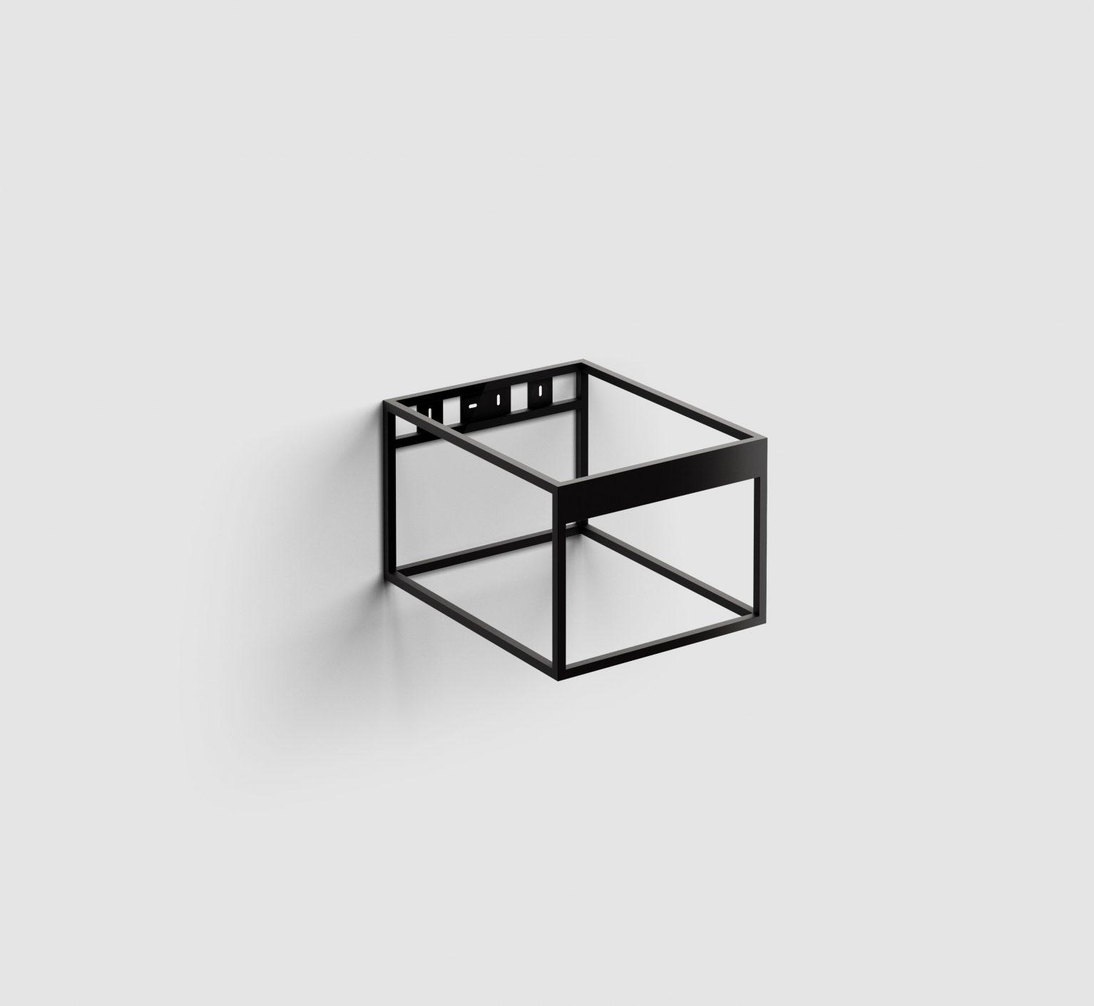 Hammock Frame rvs kokerprofielkast 40 cm, mat zwart poederc.)