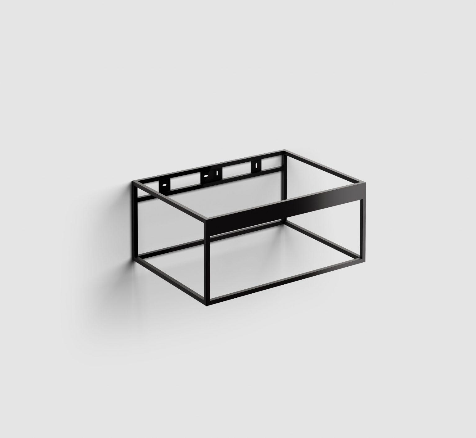 Hammock Frame rvs kokerprofielkast 70 cm, mat zwart poederc.)