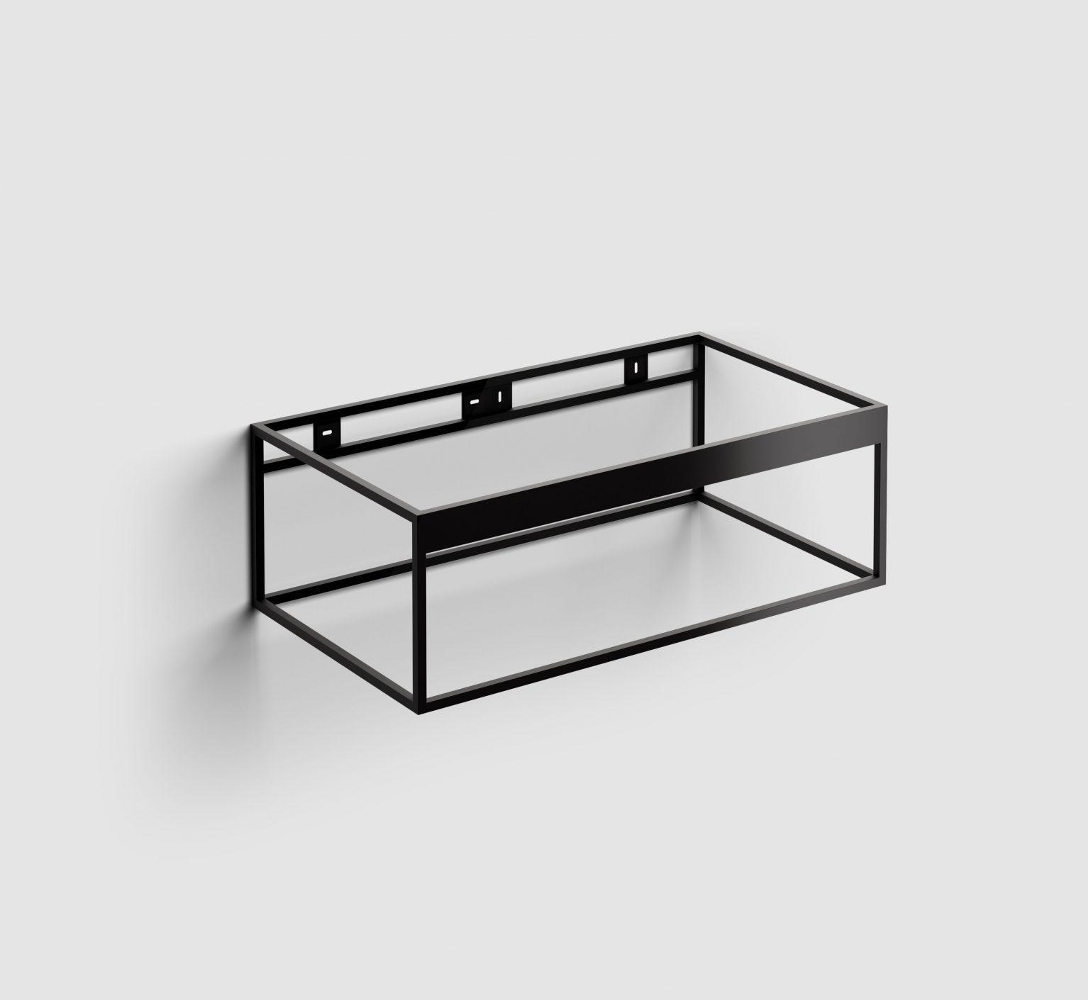 Hammock Frame rvs kokerprofielkast 90 cm, mat zwart poederc.)