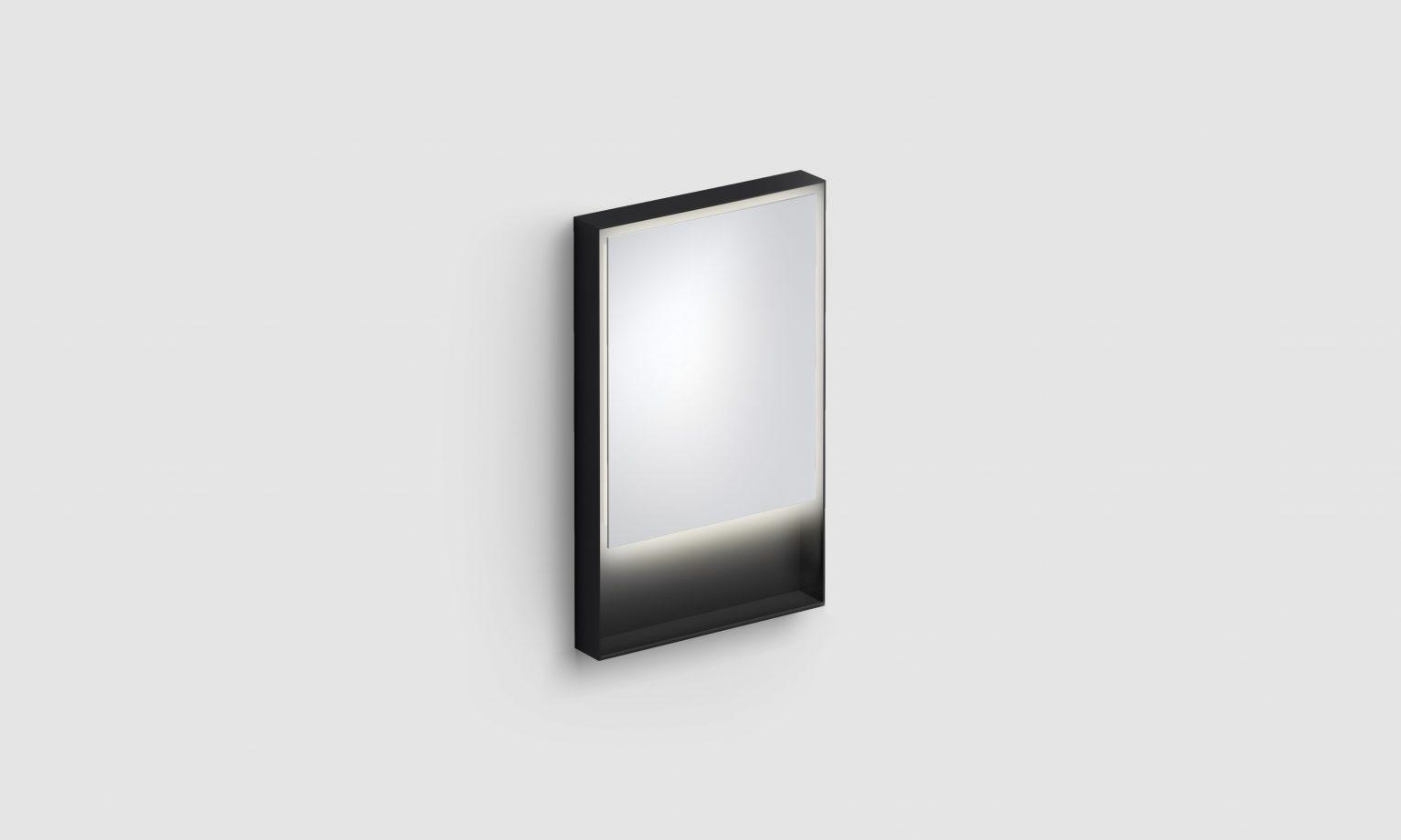 Look at Me spiegel, 50cm, LED-verlichting, IP44, mat zwart)