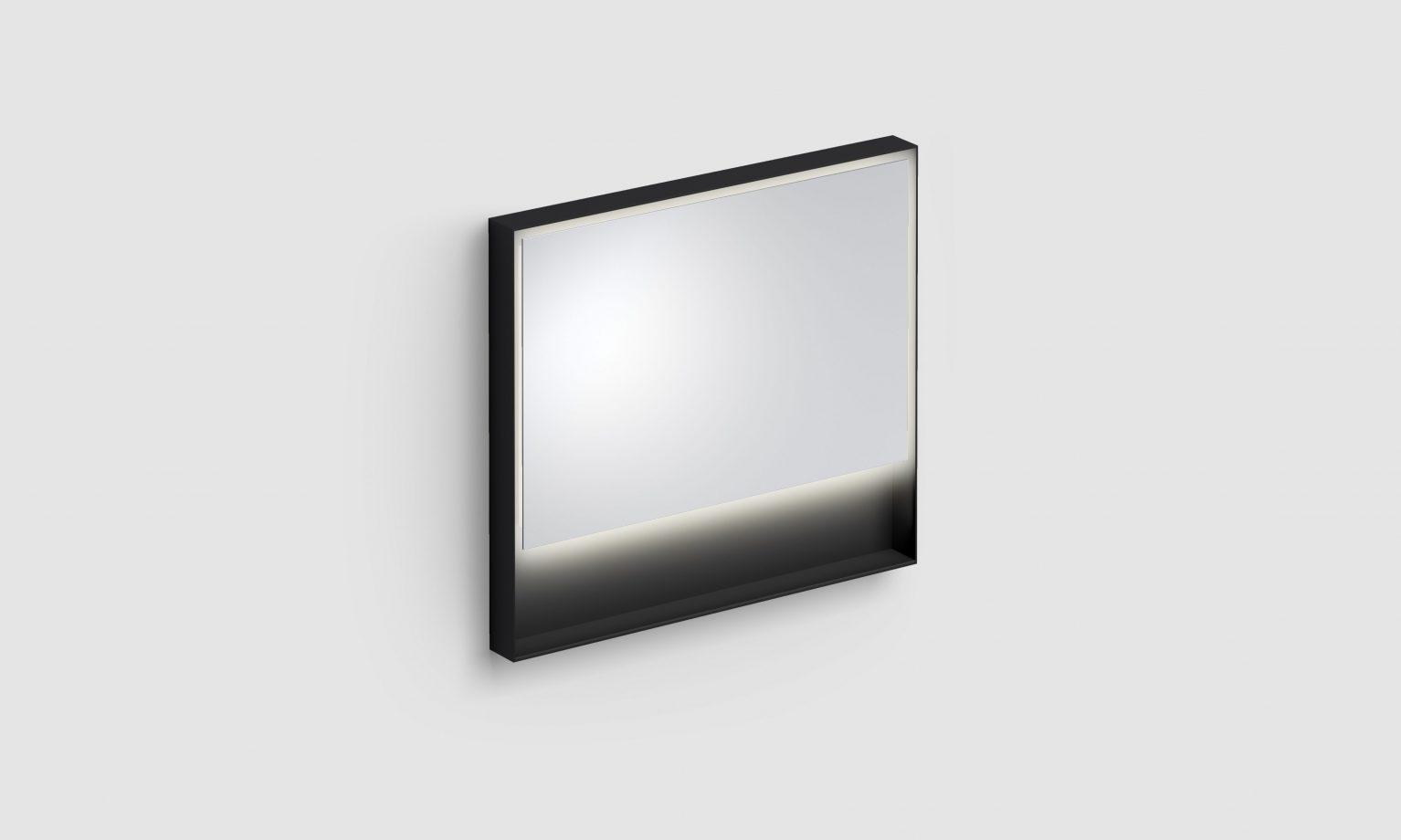 Look at Me spiegel, 90cm, LED-verlichting, IP44, mat zwart)