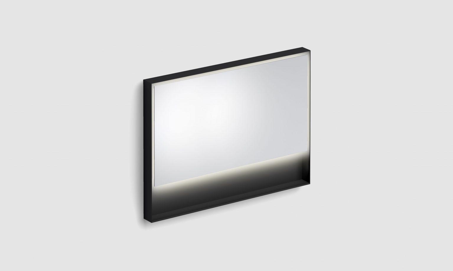 Look at Me spiegel, 110cm, LED-verlichting, IP44, mat zwart)