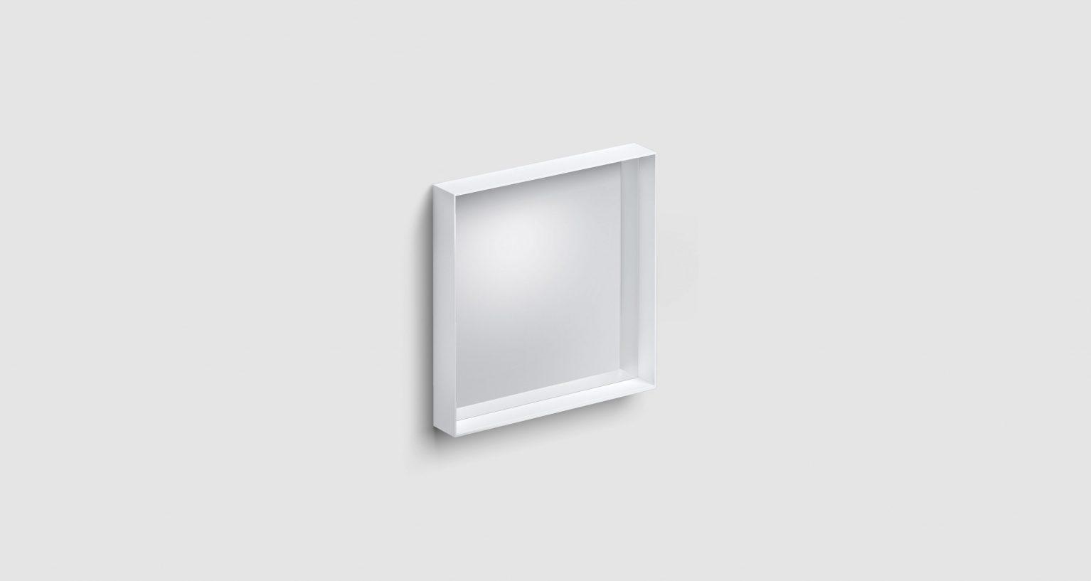 Look at Me spiegel, 50cm, met omlijsting, mat wit)