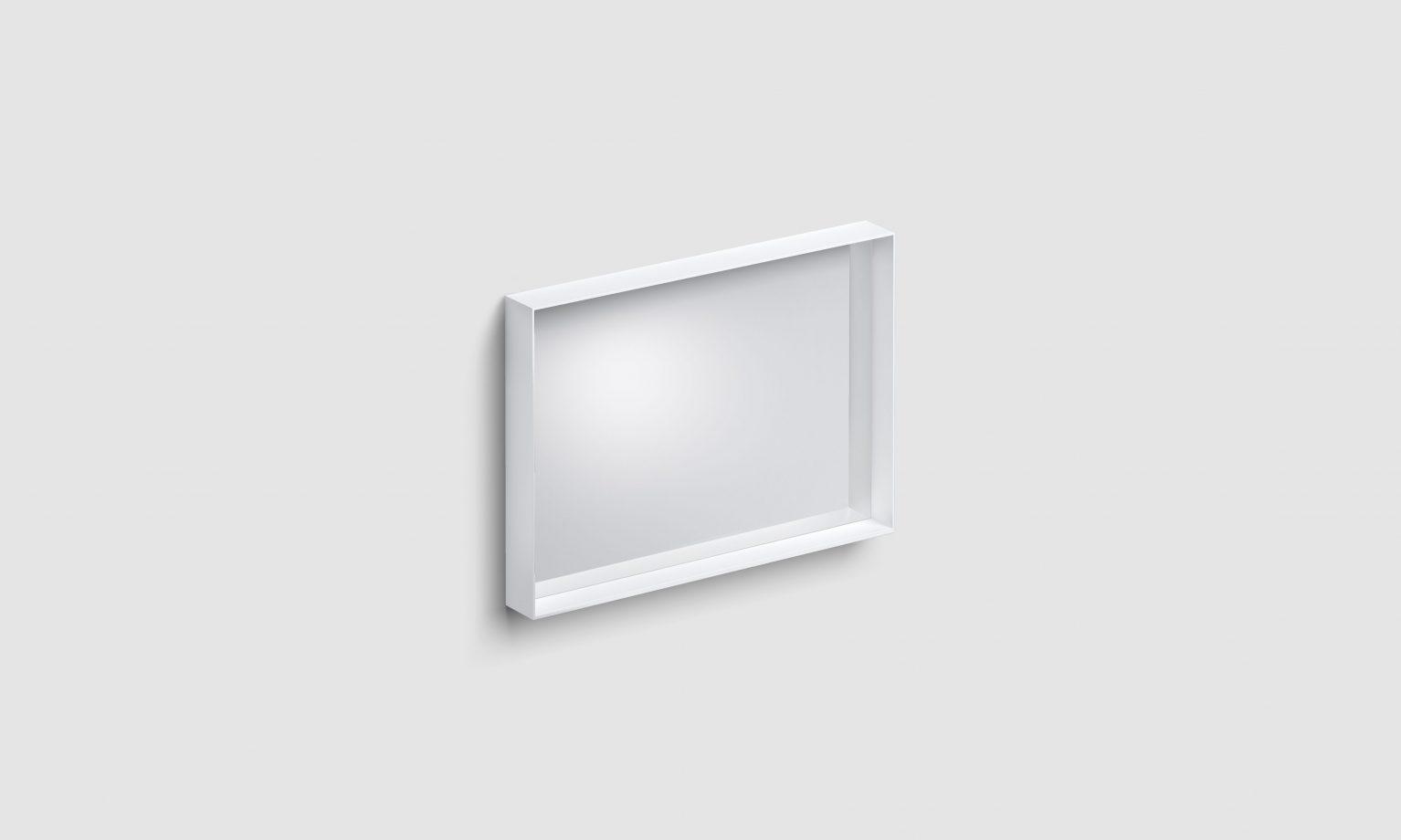 Look at Me spiegel, 70cm, met omlijsting, mat wit)