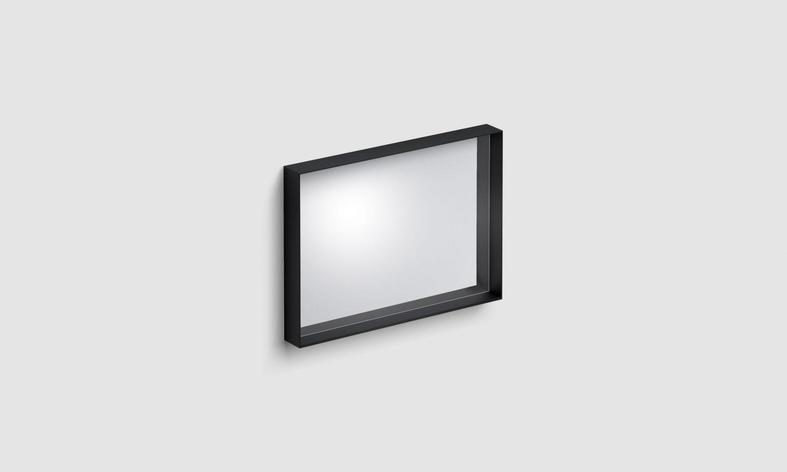 Look at Me spiegel, 70cm, met omlijsting, mat zwart)