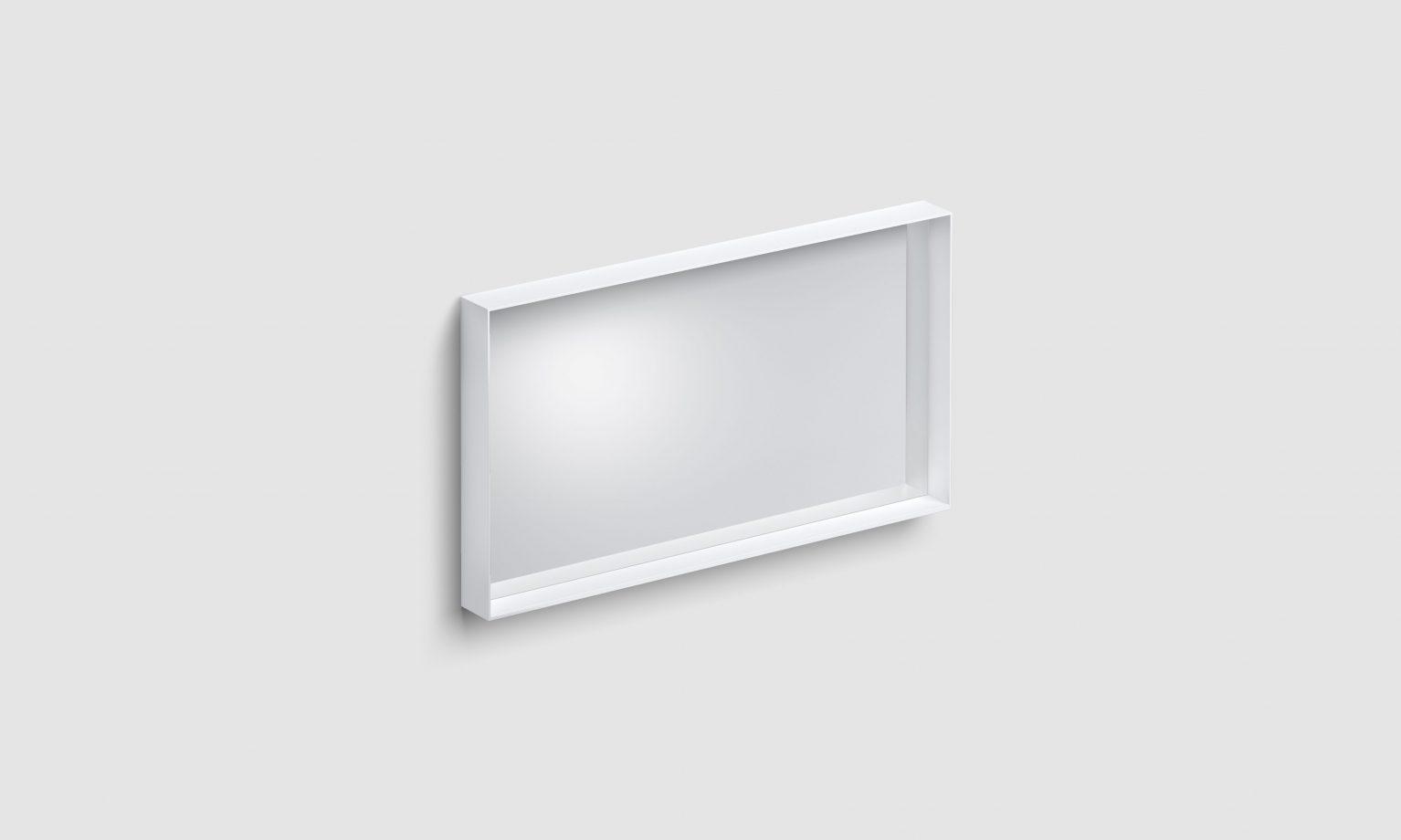 Look at Me spiegel, 90cm, met omlijsting, mat wit)