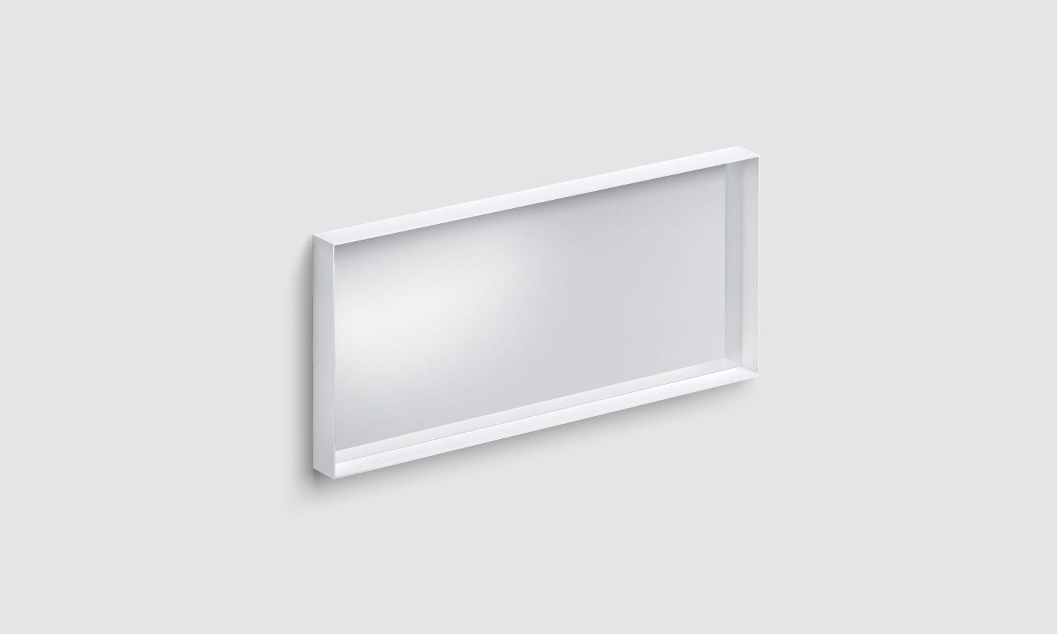 Look at Me spiegel, 110cm, met omlijsting, mat wit)