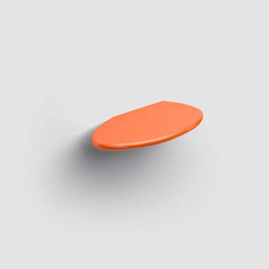 Cliff planchet 21cm, oranje keramiek)