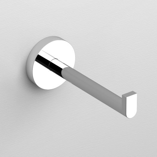 Flat toiletrolhouder 4,8cm zonder klep, chroom)