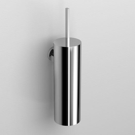 Flat toiletborstelgarnituur, wandmodel, chroom)
