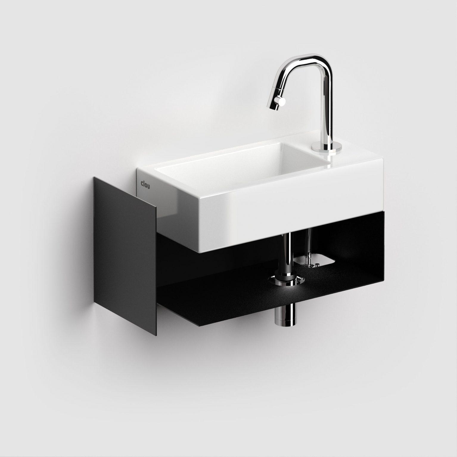 Open kast met handdoekhouder tbv Flush 3 rechts, zwart)