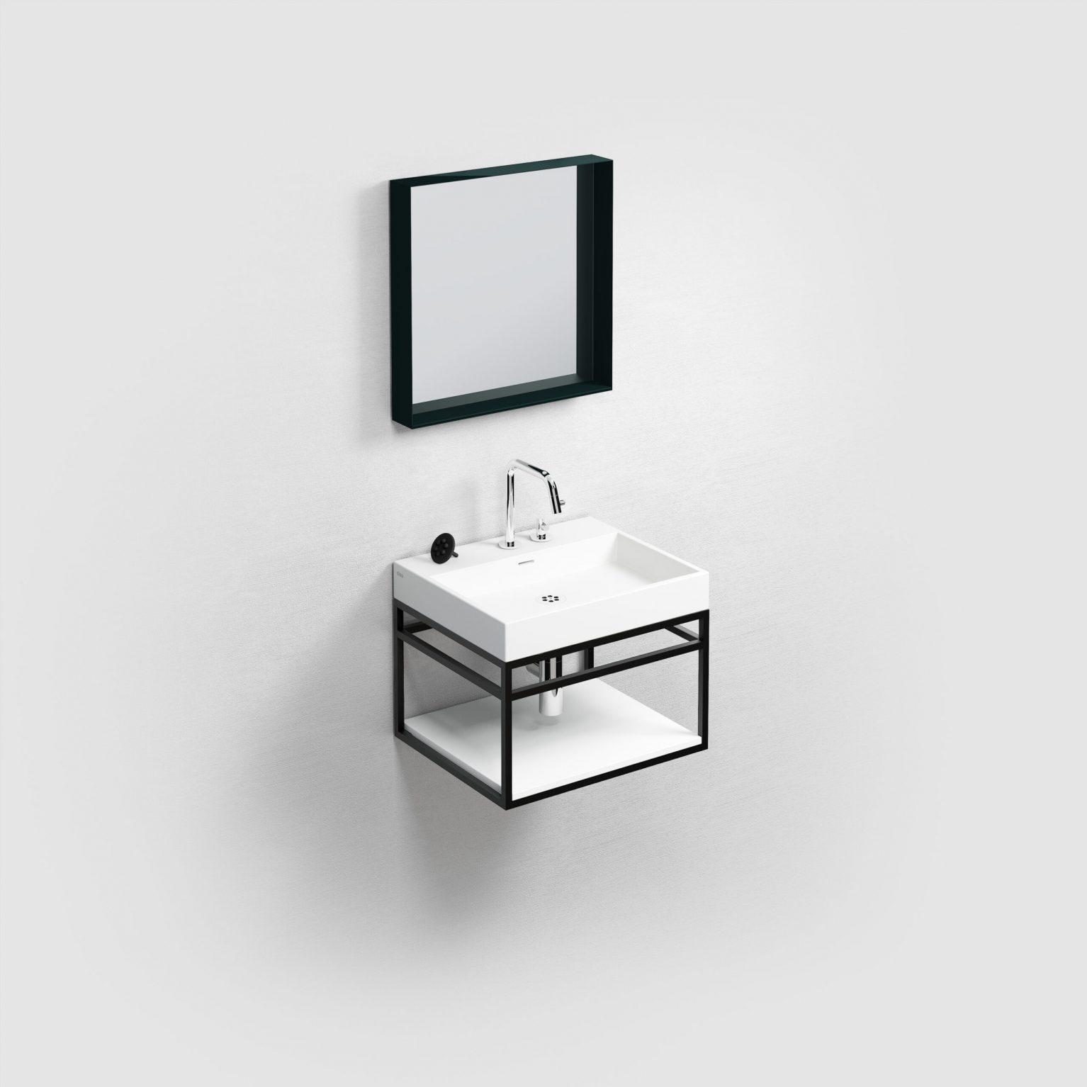 (New) Wash Me Frame inleg planchet 50 cm, mat wit aluite)
