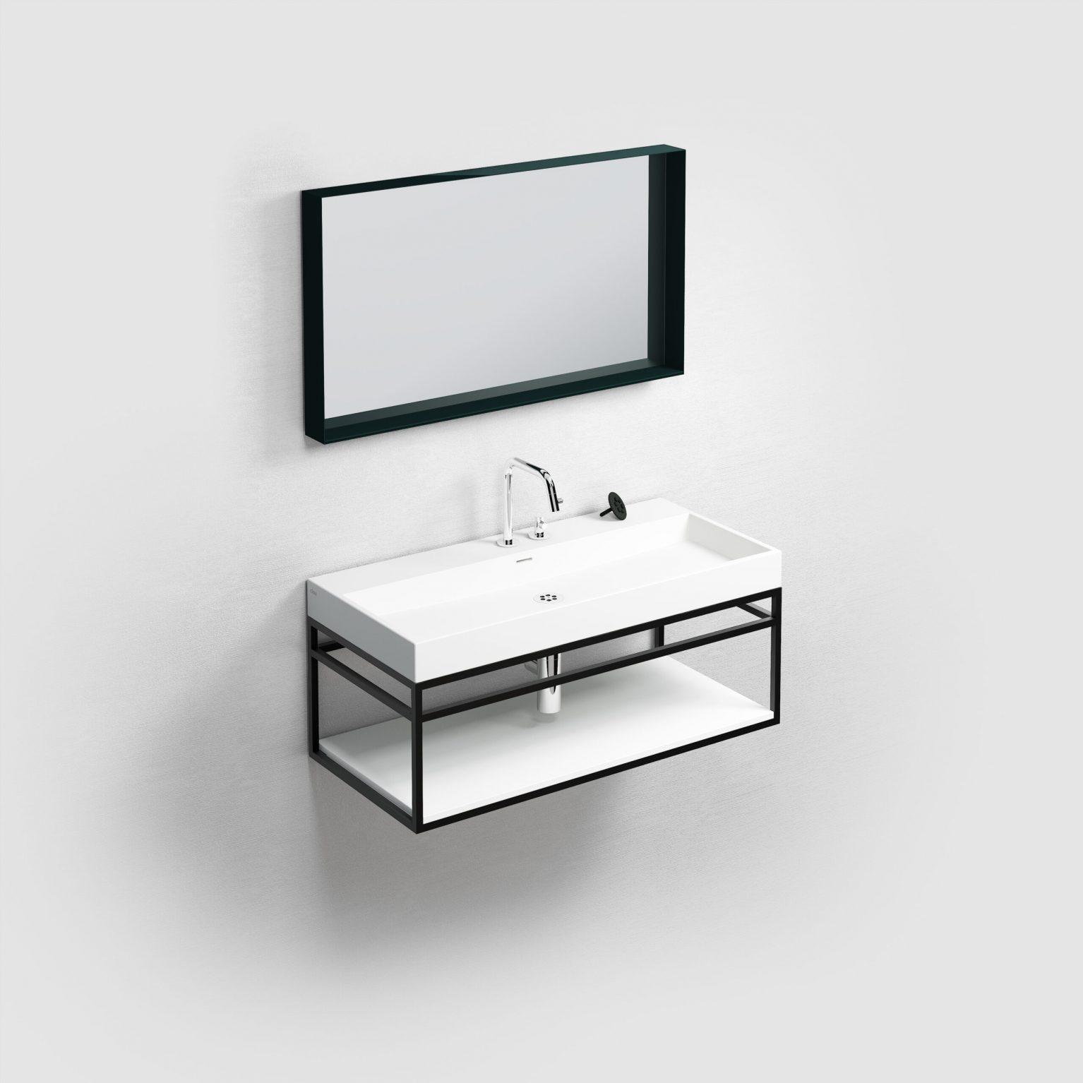 (New) Wash Me Frame inleg planchet 90 cm, mat wit aluite)
