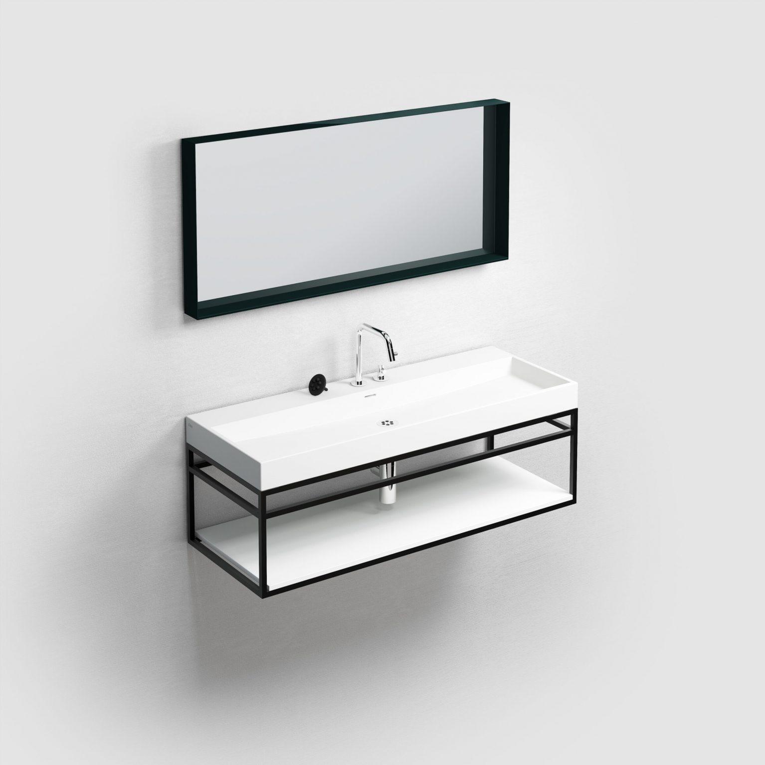 (New) Wash Me Frame inleg planchet 110 cm, mat wit aluite)
