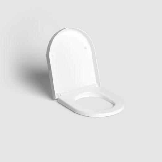 Hammock toiletzitting met deksel, soft-closing, wit)
