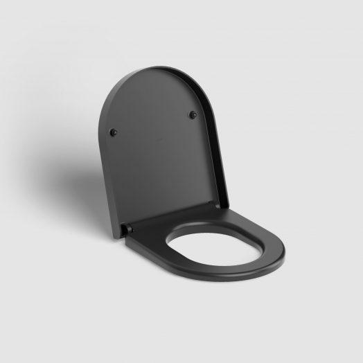 Hammock toiletzitting met deksel, soft-closing, mat zwart)