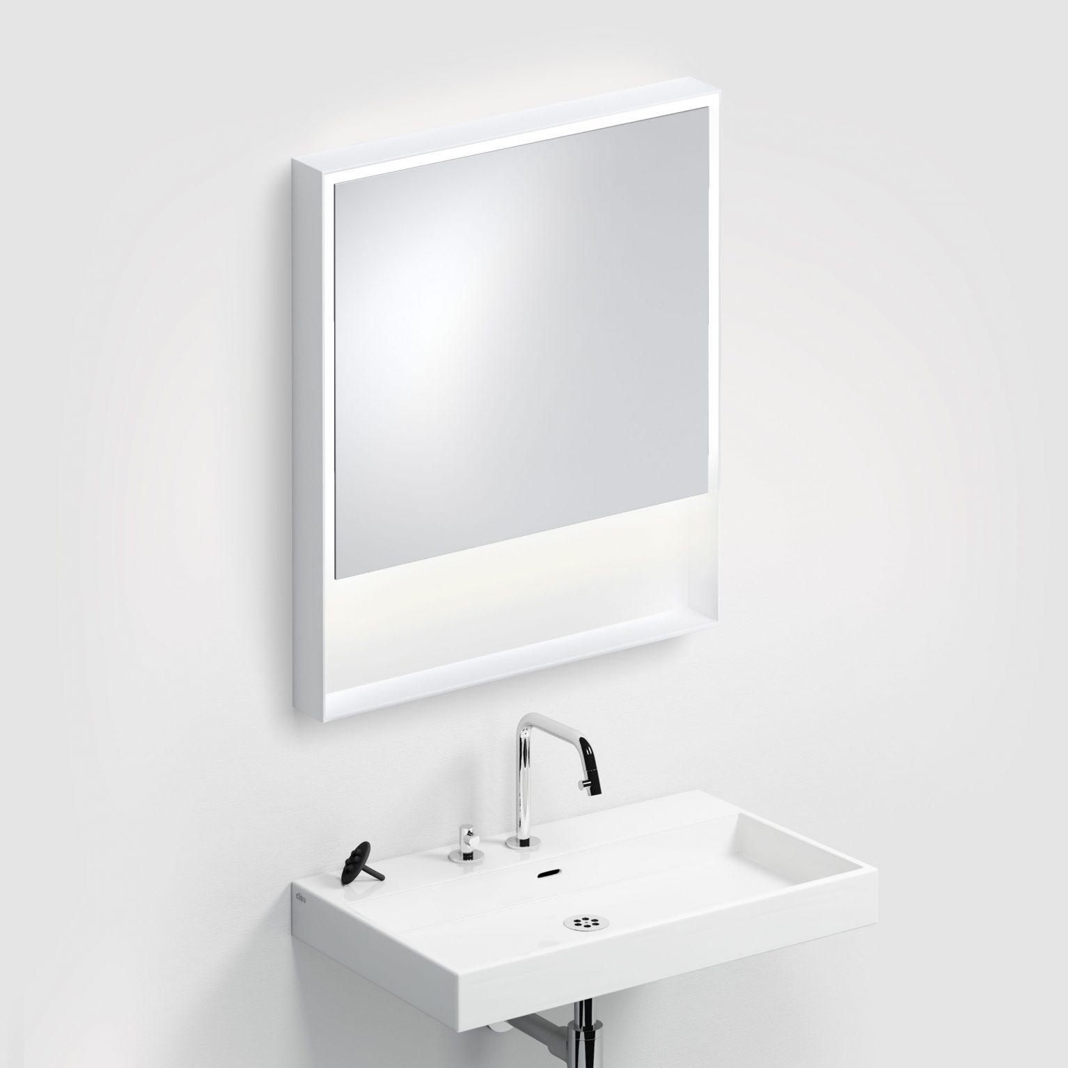 Look at Me spiegel, 70cm, LED-verlichting, IP44, mat wit)