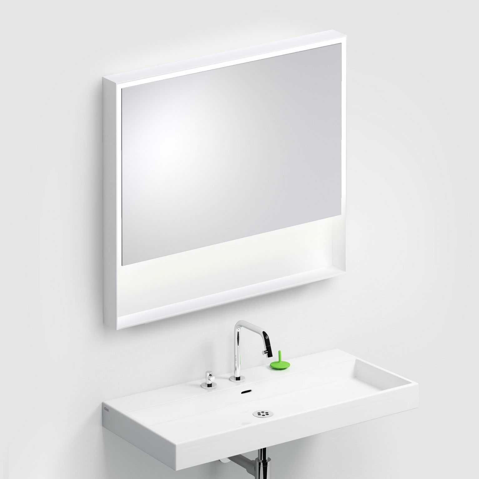 Look at Me spiegel, 90cm, LED-verlichting, IP44, mat wit)