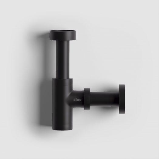 Mini Suk fonteinsifon, mat zwart, speciaal voor fonteintjes)