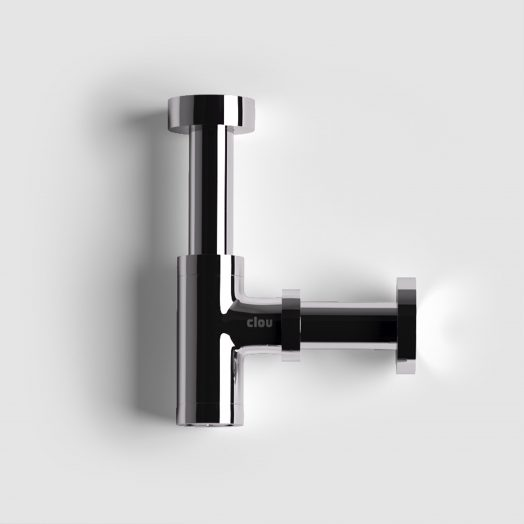 Mini Suk designsifon, chroom, speciaal voor fonteintjes)