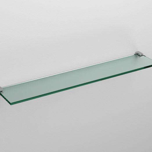Quadria planchet 60cm, chroom en helder glas)