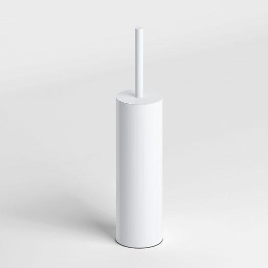 Sjokker toiletborstelgarnituur staand, mat wit.)
