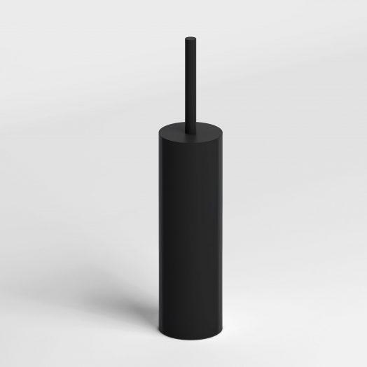 Sjokker toiletborstelgarnituur staand, mat zwart)