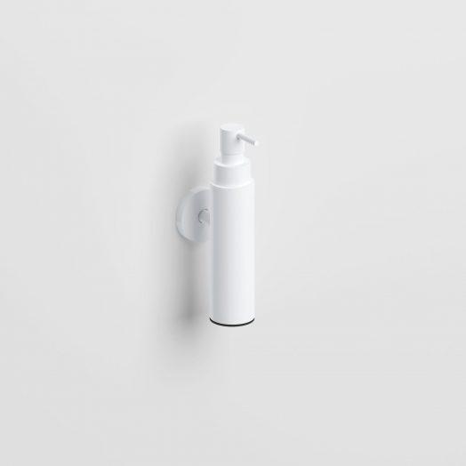 Sjokker zeepdispenser 100cc, wandmodel, mat wit)
